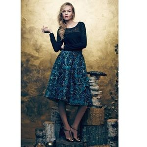 Anthropologie Butterfly Midnight Skirt 4
